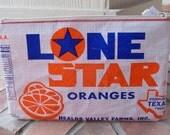 Repurposed Texas Orange Sack Bank Bag