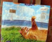 Repurposed Cat Food Market Bag/Tote