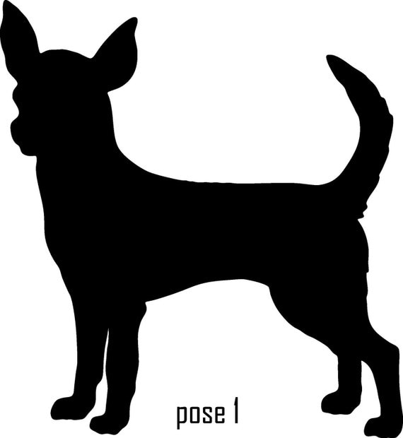 Items similar to 6 Inch Chihuahua Vinyl Dog Silhouette Decal on Etsy Y Dog Names