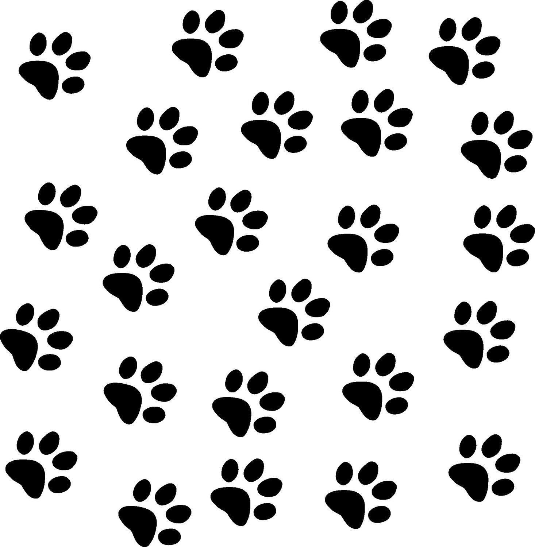 black paw print wallpaper border - photo #21
