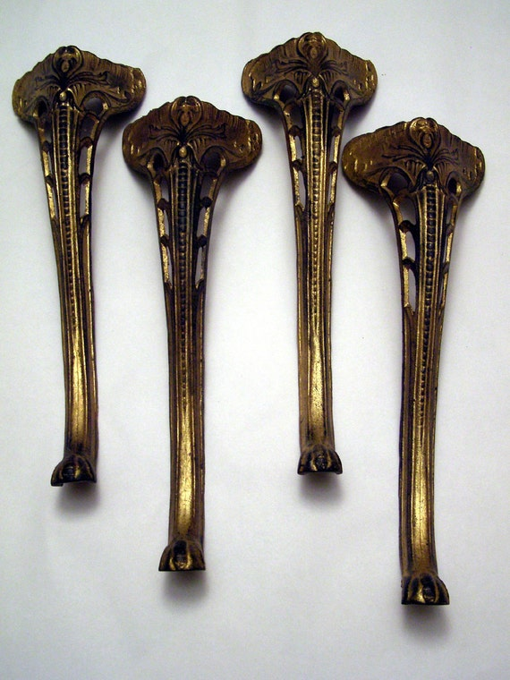 Vintage Cast Iron Cabriole legs set of four by Artswilde on Etsy: https://etsy.com/listing/92882050/vintage-cast-iron-cabriole-legs...