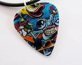 Guitar Pick Necklace Smile Eye C