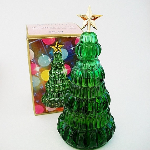 Vintage avon yuletree glass christmas tree