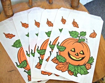 Vintage Halloween Party Favours Vintage Goodie Bags Pumpkins Hallmark 1970s