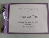Stylish Booklet Style Wedding Program Customize to Your Colors