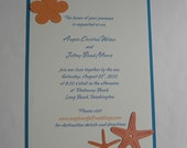Destination Beach Wedding Invitation / Suite with Die Cut Shapes