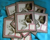 Square Baby Announcements - Modern Look Using Your Photos