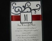 5x7 Swirls Wedding Invitation Custom for Your Big Day