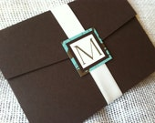 Lagoon 5x7 Pocket Style Invitation Suite with RSVP and Inserts