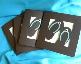Beach or Flip Flop Themed Invitations for Shower, Birthday, or any Event Choose Custom Colors