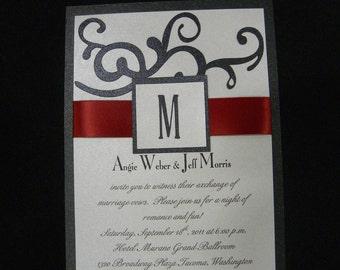 5x7 Swirls Wedding Invitation Custom for Your Big Day