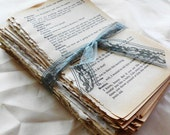 3 Sets. Over 150 Pages of Beautiful Aged Patina'd Vintage Book Pages.  Novel Pack