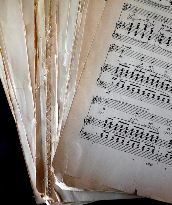 10 Sheets Antique Sheet Music- Large Format Sheet Music. Antique condition. Perfect for framing