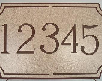 Address Sign, Wall Plaque, Street address, house number, Street number, Metal Art, Name plate, Number plaque, House Plaque,  Custom design