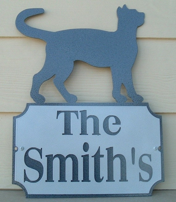 Address sign, Walking Cat address sign, Feline, Metal art, Cat Lover, House cat, Cats, Kitten, Name plaque, Number plaque, Animal lover