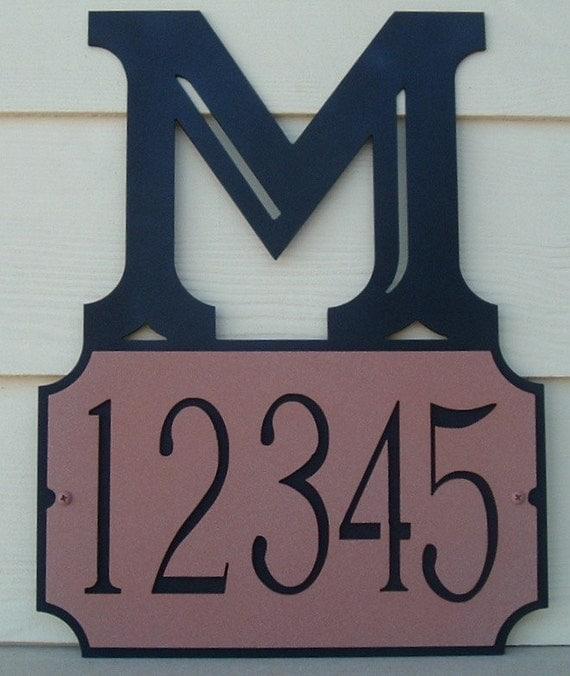Capital letter address sign, Address plaque, street number, custom font, Metal art, House number, Name plaque, Wall Plaque, House Address