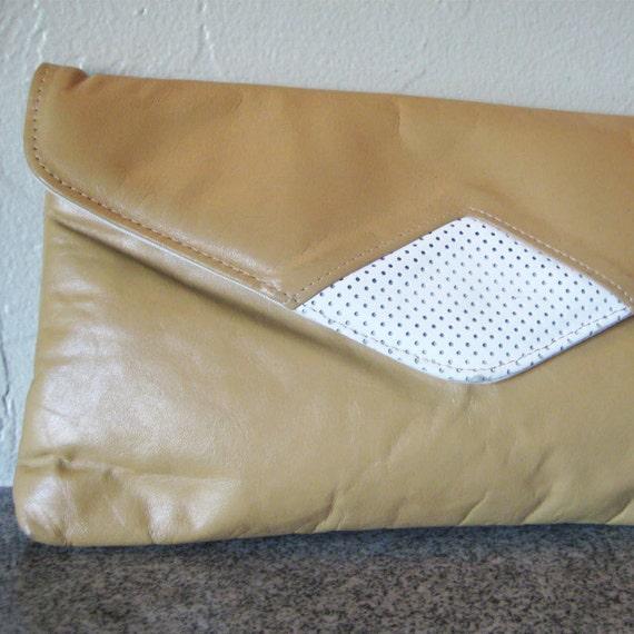Vintage Leather Envelope Clutch/Purse
