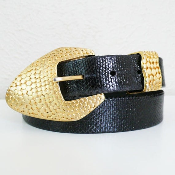Vintage Carlisle Snake Belt // Made in USA