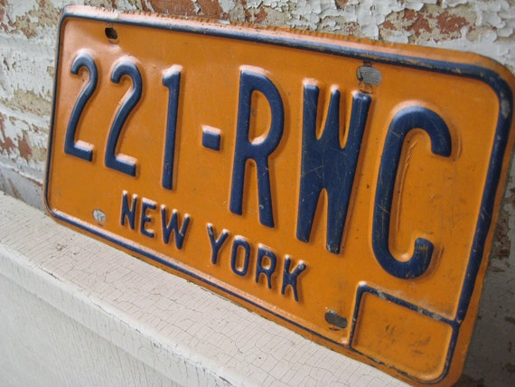 vintage new york license plates eBay