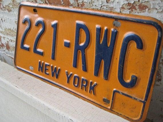 Vintage New York License Plates 42