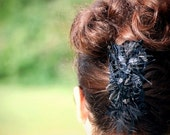 Glam Claw Clip Black / Brown. Sofisticata Formal Night Out. Bride Bridal Elegant Wedding. Mother Mom Tween Statement. French Twist Hair Do