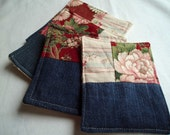 SALE Quilted Coasters Set of 4