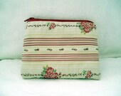 Classic Red Floral Coin Purse Wallet Pouch