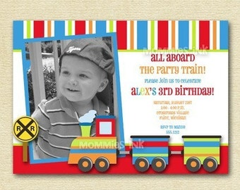 Train Invitation, Train Birthday Party, Choo Choo Train, Boy Birthday, 1st Birthday, Train Birthday Invite, DIY Printable Party, Train Photo