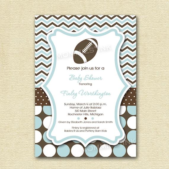 dotty football baby shower invitation printable invitation design
