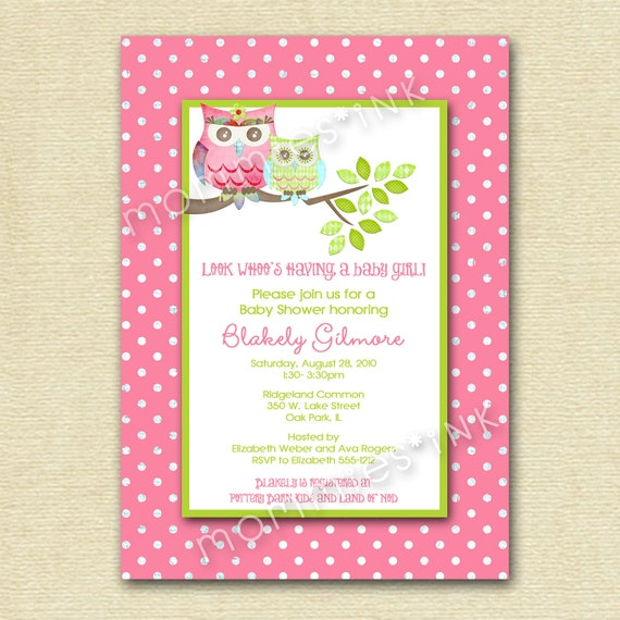 Vintage Owl Baby Shower Invitations: Baby Shower Invite