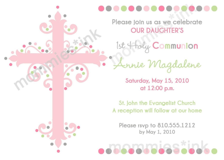 free printable confirmation invitations template - free printable first communion invitations