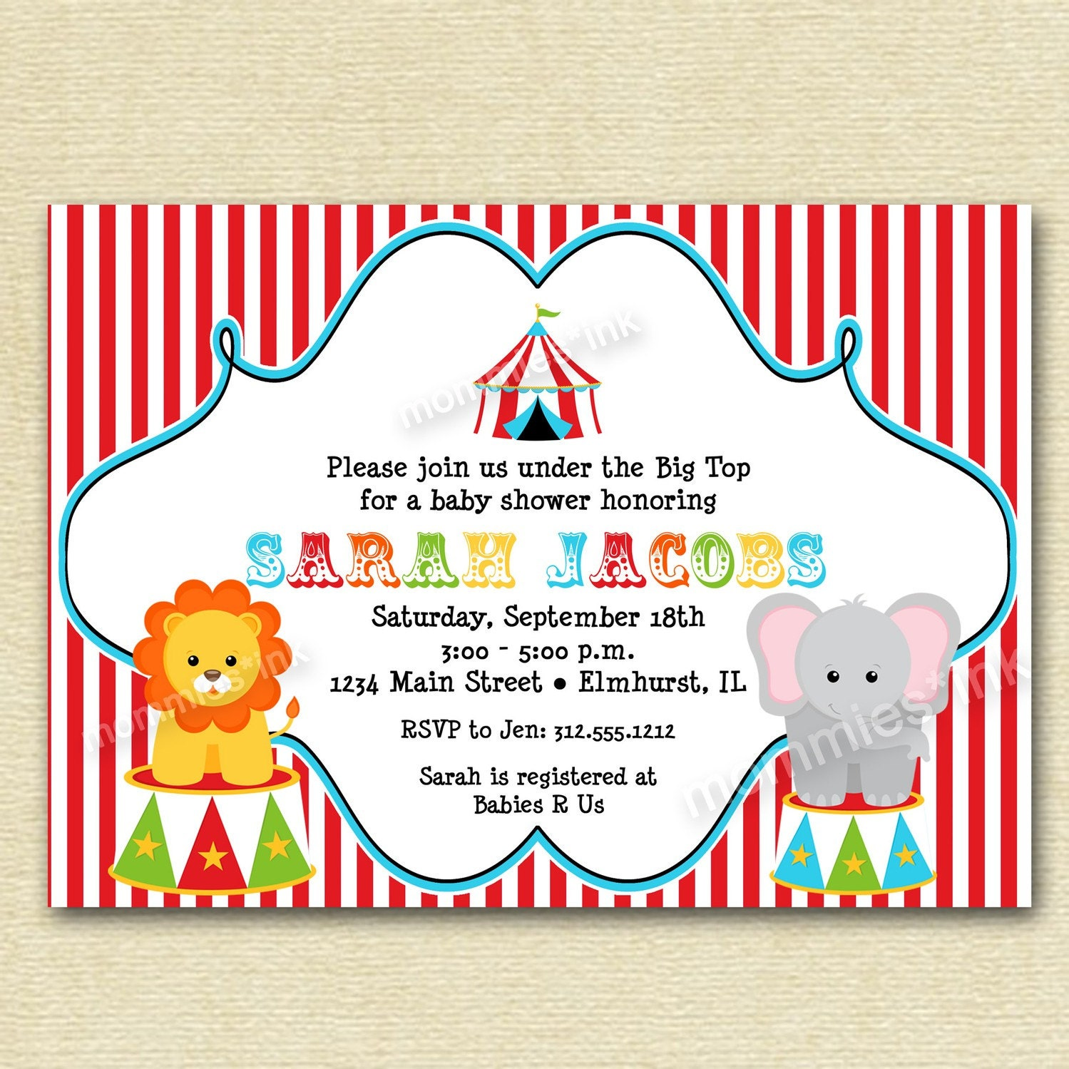 Circus Baby Shower Invitations is an amazing ideas you had to choose for invitation design