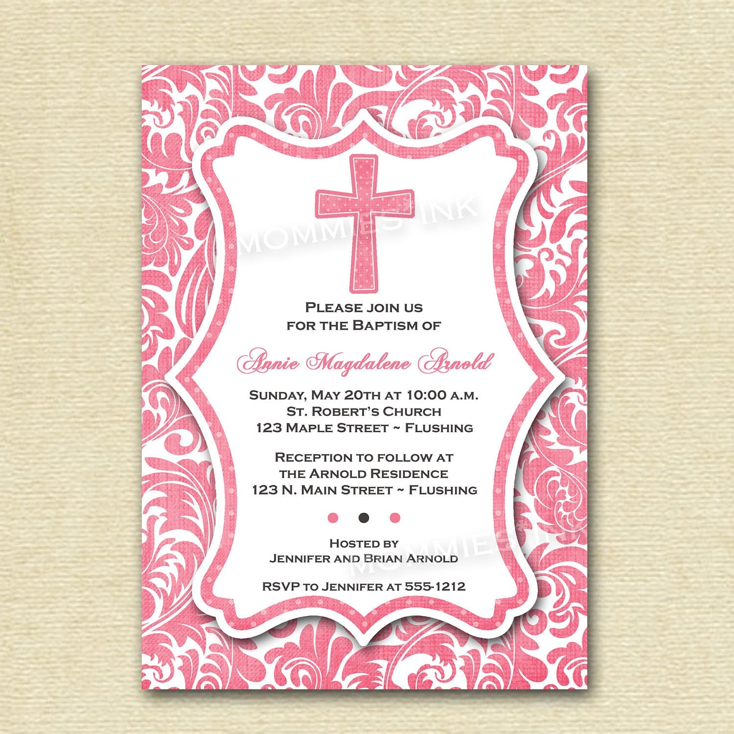 Printable Baptism Invitations absolutely amazing ideas for your invitation example