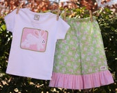 Sale...Appliqued Bunny Easter Top...Ready for Delivery...Size 12m and 4...Last Ones