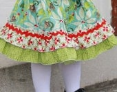 Christmas Double Ruffle Skirt...Ready for Delivery...Available in Size 4 From Corina's Closet