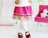 Present Birthday Ruffle Skirt...Ready for Delivery...Available in Size 18m, 2, 4, 6, and 8 From Corina's Closet