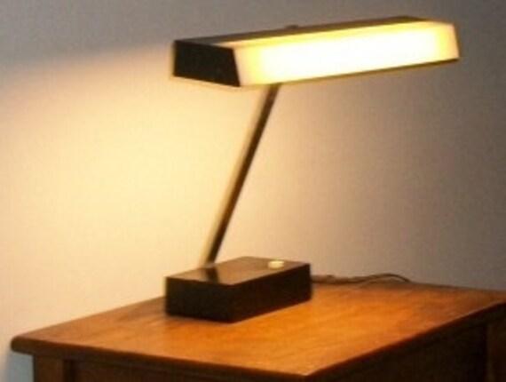 Black and White Vintage Lightolier Desk Task Lamp