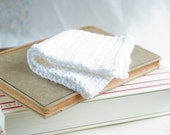 Washcloth dishcloth crochet  organic fair trade cotton