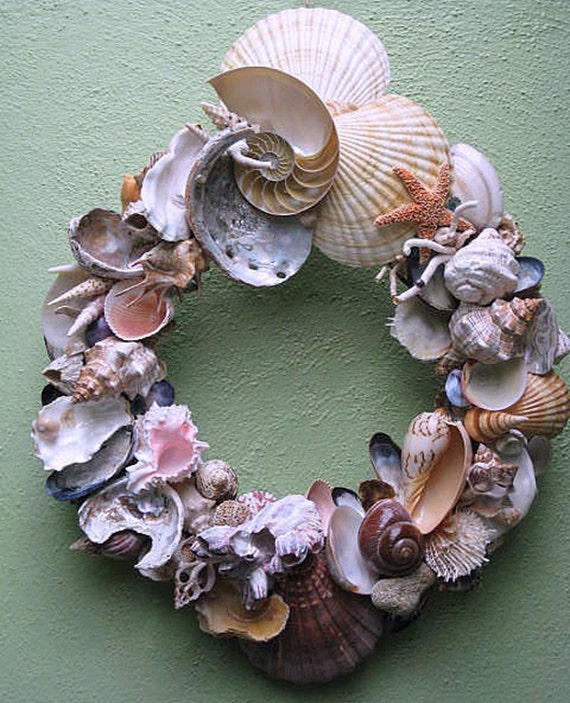 Colorful Large Shell Wreath (SW22)