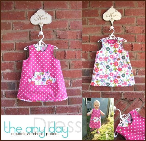 The Any day dress pdf pattern (reversible)