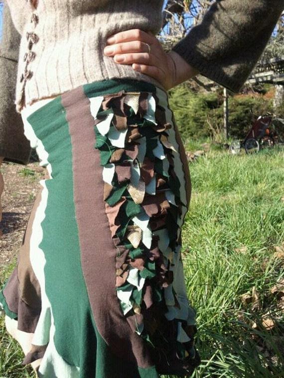 CaMo cAmOuflaGe DraGon piXiE skirt UPcYcled TRiBal PiXie wear size 4-6