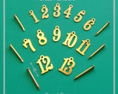 Small Brass Numbers Set for Arts and Crafts and numbering wine and other collections