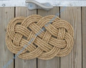 Small Nautical Mat Manila Weave Knot Ocean Plait Nautical Manila Rope Mat
