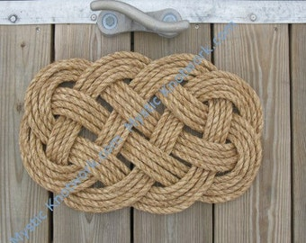 Small Nautical Mat Manila Weave Knot Ocean Plait Nautical Manila Rope Mat