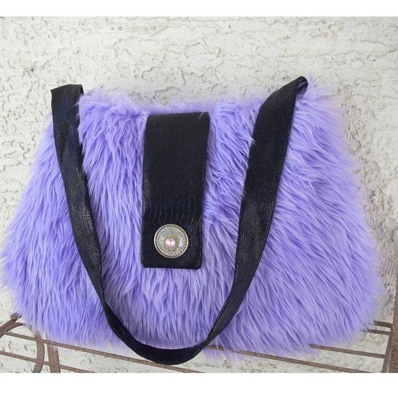 Large Cozy Bag - Purple Gaga, Faux Fur Bag, Faux Fur Purse, fake fur bag, fake fur purse, spring, gift for teen, caroljoyfashions.com