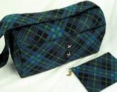 Plaid Corduroy Handbag