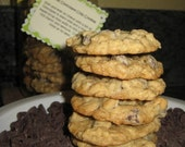 Fresh Baked Homemade Maple Syrup Oatmeal Chocolate Chip Cookies Gift Jar