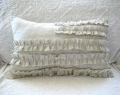 Decorative Hand-Made Ruffle Pillow (American Flag Inspired)