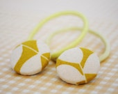 Pixie Button Hair Elastics - Lemon Yellow