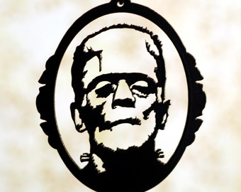 Frankenstein Head Silhouette Frankenstein monster inspiredFrankenstein Head Silhouette